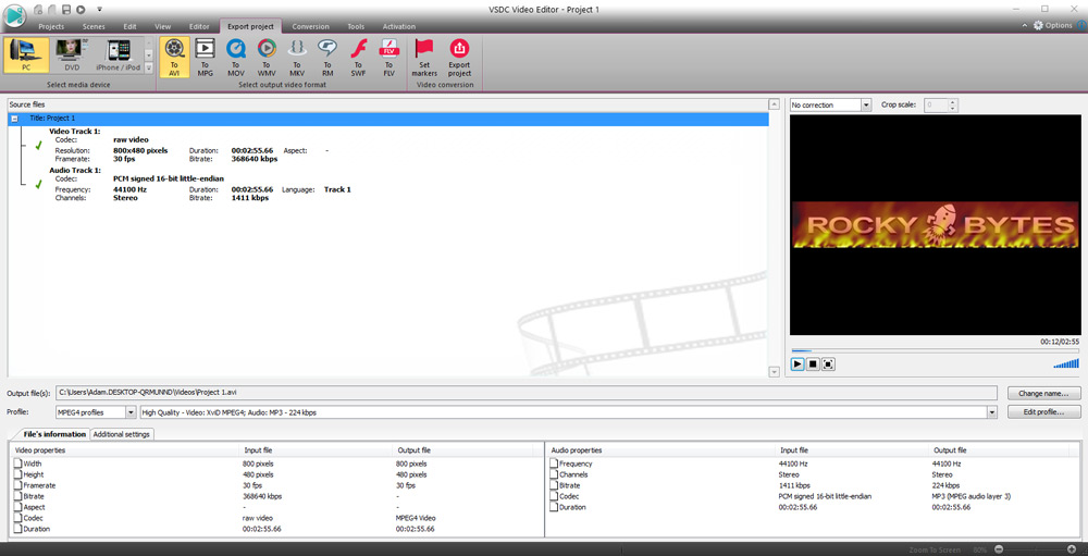 VSDC video editor - Free Download | Rocky Bytes