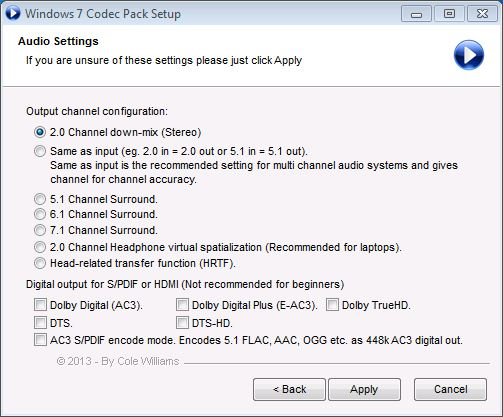 Windows 7 Codec Pack - Free Download   Rocky Bytes