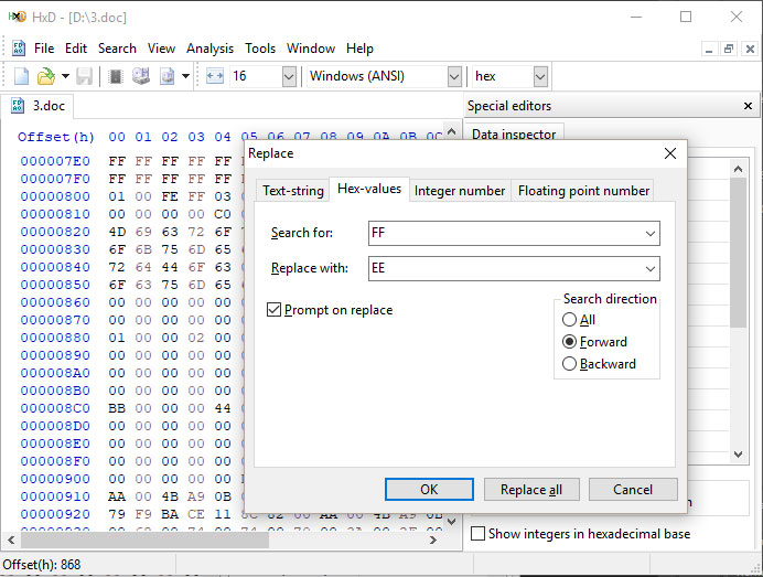 HxD Hex Editor Pictures | Rocky Bytes