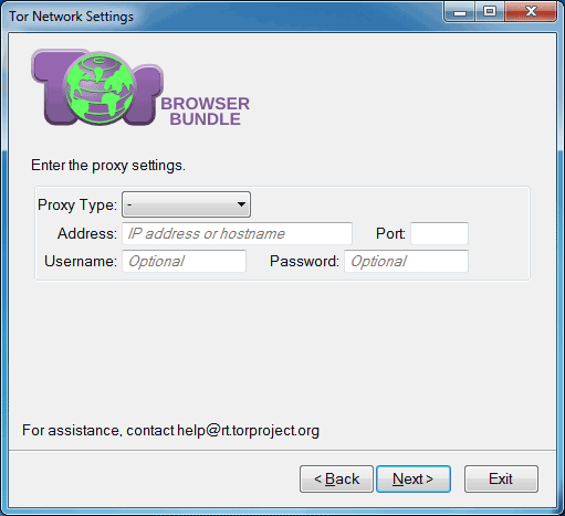 Tor browser proxy server