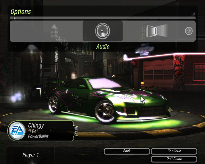 Need for speed 2 options