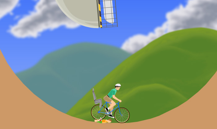 happy wheels, free game to play in spare time at school