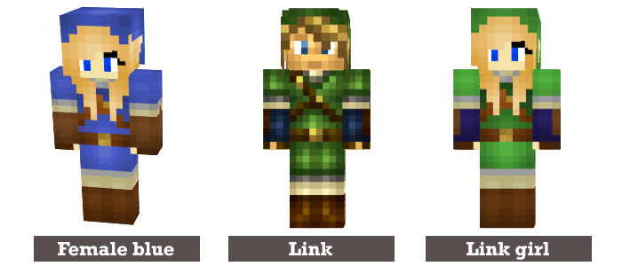 Skins For Minecraft Gallery Of Skins For Minecraft With Skins For - Skins para minecraft pe zelda