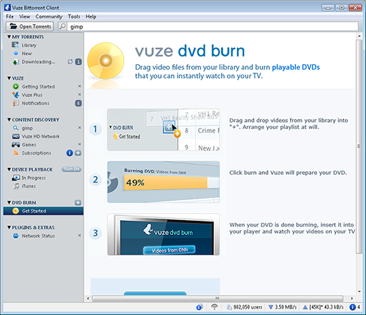 How to use vuze