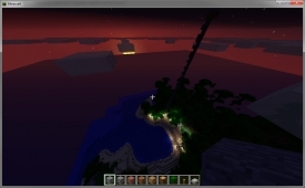 Forest fire in Minecraft