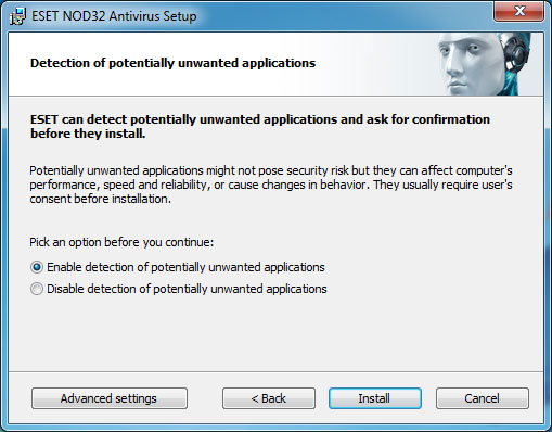 How to install NOD32