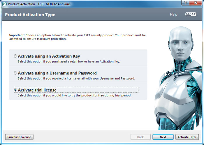 How to use Nod32 antivirus