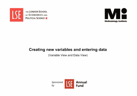 SPSS london school of economics tutorials