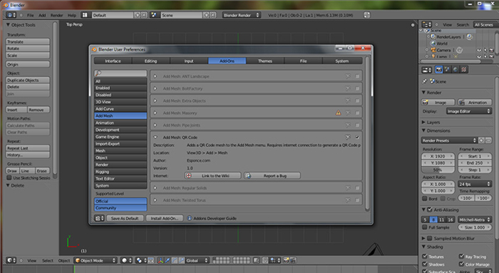 Game development tools: blender