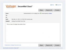 Voltage SecureMail Cloud