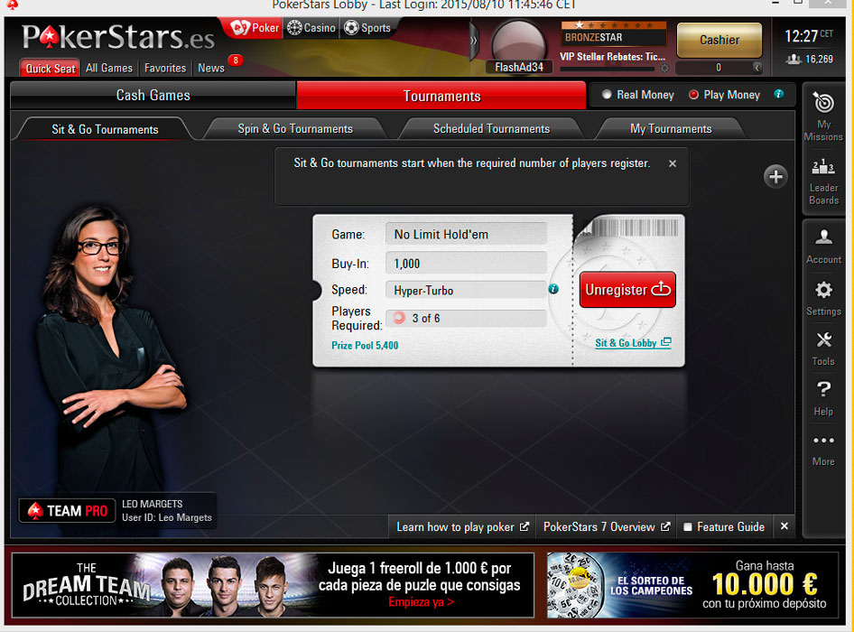 pokerstars browser