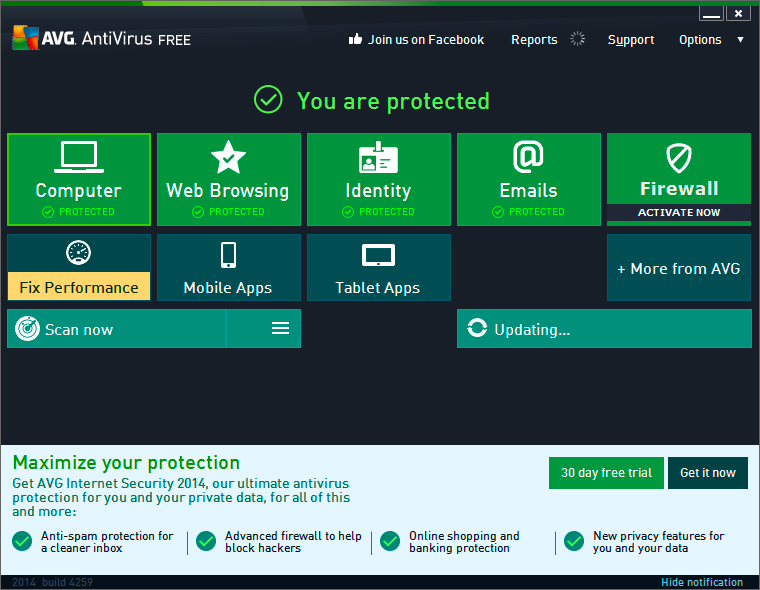 cant download avg free edition