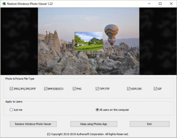 Restore Windows Photo Viewer - Free Download   Rocky Bytes