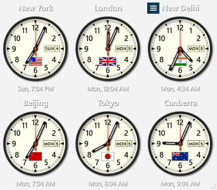 Sharp World Clock - Free Download | Rocky Bytes
